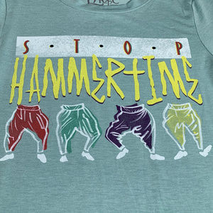 9b5010008 Mc Hammer Stop Hammer time Tee Size XS